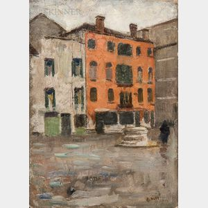 Eugène Laurent Vail (American/French, 1857-1934)      Place Vénitienne