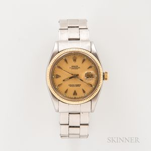Rolex Two-tone Oyster Perpetual Datejust Reference 6605 Wristwatch
