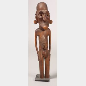 Easter Island Carved Wood Male Figure