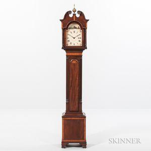 "Reproduction David Studley Inlaid Mahogany ""Small Clock"" or ""Grandmother's"" Clock"