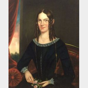 Attributed to Robert Street, (American, 1796-1865)  Portrait of Jane Elizabeth Armstrong.