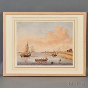 Dutch School, 18th/19th Century      Two Works: Stag Hunt