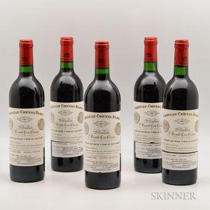 Chateau Cheval Blanc 1983, 5 bottles