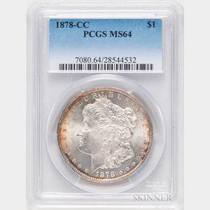 1878-CC Morgan Dollar, PCGS MS64.