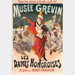 Jules Chéret (French, 1836-1932)      Musée Grévin, Les Dames Hongroises