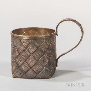 Russian .875 Silver Tea Glass Holder (Podstakannik)