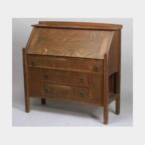 Arts & Crafts Lifetime Oak Drop-front Desk