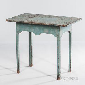 Blue-painted Tea Table