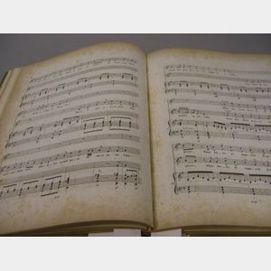 Bound Collection of 19th Century Sheet Music