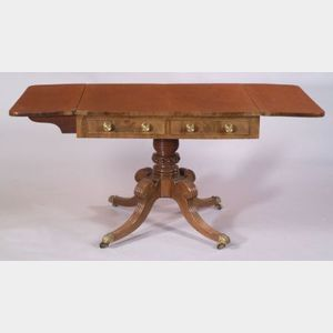 Regency Mahogany and Carved Mahogany Sofa Table