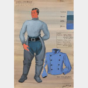 Horace Armistead (American, 1898-1980)      Costume Design for Son   in Far Harbour