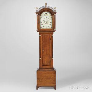 David Wood Cherry Tall Clock