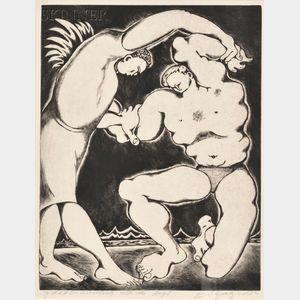 Edward Hagedorn (American, 1902-1982)      Jacob Wrestling with the Angel