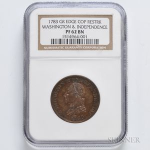 1783 Washington & Independence Cent, NGC PF62 BN