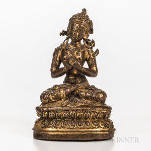 Gilt-copper Alloy Figure of Maitreya