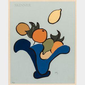 Emlen Pope Etting Jr. (American, 1905-1993)      Flying Fruit