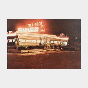 John Baeder (American, b. 1938)  Tick Tock Diner