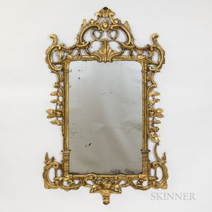 Baroque-style Giltwood Mirror