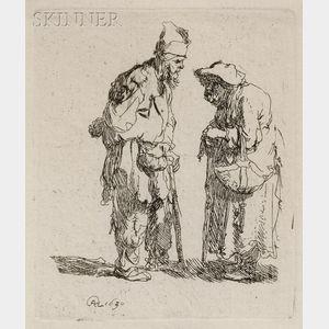 Rembrandt van Rijn (Dutch, 1606-1669)      Beggar Man and Woman Conversing