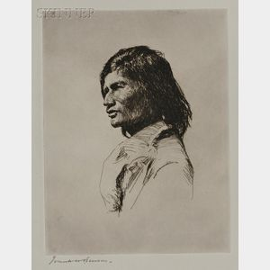 Frank Weston Benson (American, 1862-1951)      Nascaupée Indian