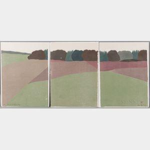 Seven Richard Kemble (American, 1932-2007) Woodcuts