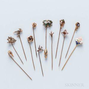 Group of Stickpins