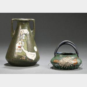 Two Eduard Stellmacher Vases