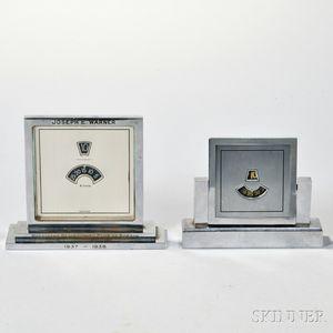 Two Swiss Digital Desk Clocks
