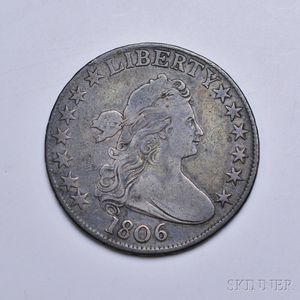 1806 Draped Bust No Stems Half Dollar