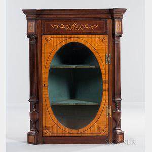 Neoclassical-style Mahogany Corner Cabinet