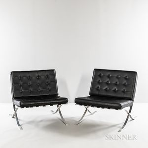 Two Barcelona-style Chairs