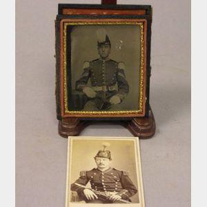 Two Civil War Era Union Army Musician Portrait Photographs
