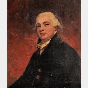 After George Romney (British, 1734-1802)      Portrait of  Robert Raikes (1735-1811)