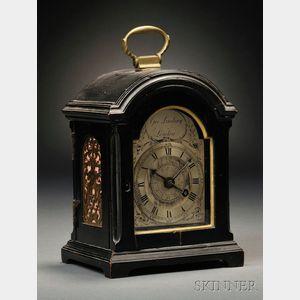 Sold for: $15,600 - Miniature George Lindsay Ebonized Alarm Table Clock