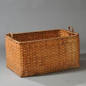 Large Rectangular Double-handled Splint Storage Basket