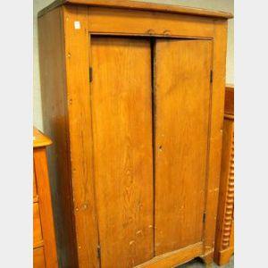 Pine Two-Door Jelly Cupboard.