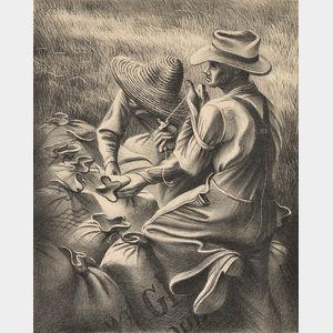Joe Jones (American, 1909-1963)      Missouri Wheat Farmers