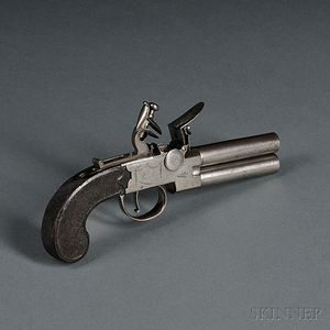 Humbley Over and Under Boxlock Pistol