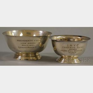 Two Small Revere-type Bowl-form Trophies