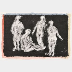 Mark Tobey (American, 1890-1976)      Four Figures