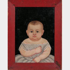 Prior/Hamblen School, Mid-19th Century      Portrait of a Baby