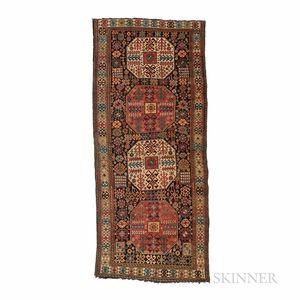 "South Caucasian Long Rug with ""Chajli"" Design"