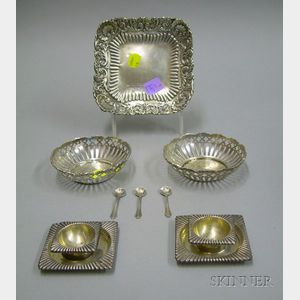 Group of  Small Sterling Tablewares Items