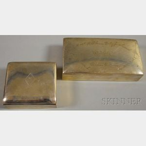 Two Sterling Silver-cased Boxes