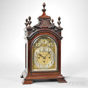 Bigelow and Kennard Miniature Mahogany Dual-chime Bracket Clock