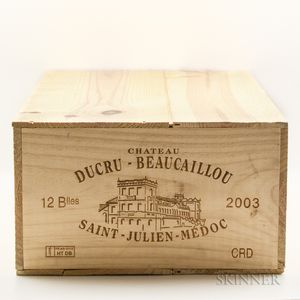 Chateau Ducru Beaucaillou 2003, 12 bottles (owc)