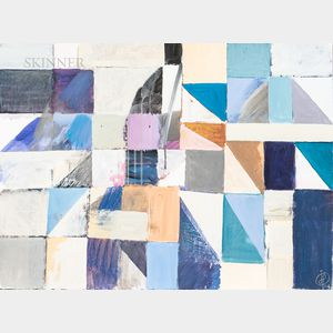 Irving B. Haynes (American, 1927-2005)      Two Abstract Geometric Works on Paper.