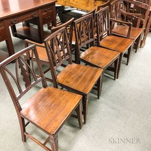 Set of Eight Norwegian Neoclassical-style Pine Dining Chairs