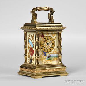 Miniature Porcelain Panel Carriage Clock