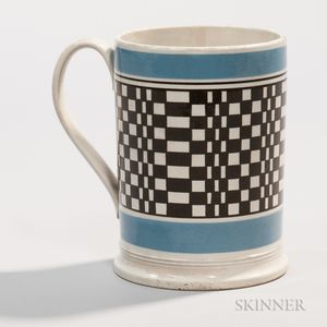 Engine-turned Quart Mug
